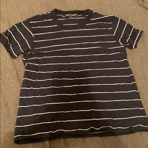 Blue and White Striped Brandy Melville T- Shirt